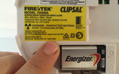 Smoke Alarms – Replace your batteries Adelaide